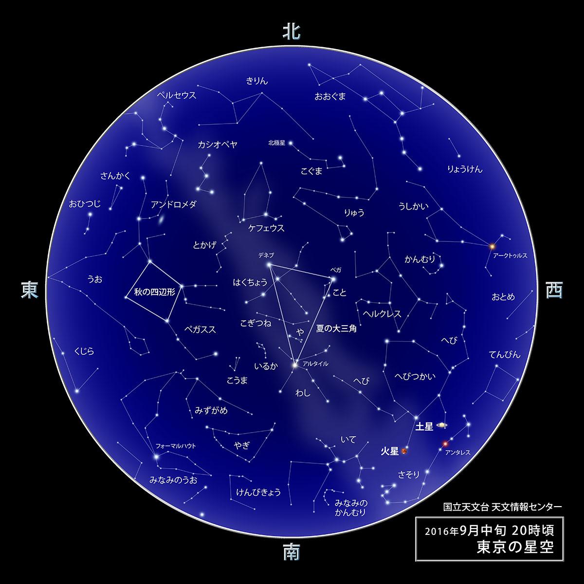 9月の星空